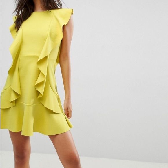 98913a8d12 ASOS Dresses   Skirts - ASOS Ruffle Front Bow Back Mini Dress Size 2